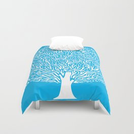 Blue Tree Duvet Cover