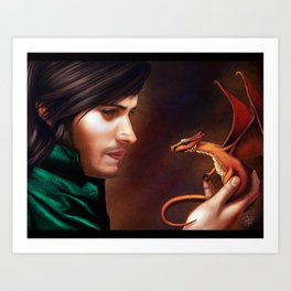 The Baby Dragon Art Print