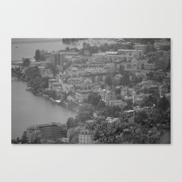 City Outlook--Black and White Canvas Print
