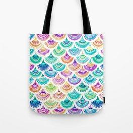 RAINBOW MERMACITA Colorful Mermaid Scales Tote Bag