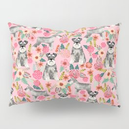 Schnauzer floral dog breed must have gifts for schnauzers Pillow Sham