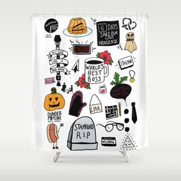 The Office doodles Shower Curtain