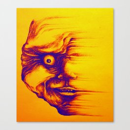 Fading Face Canvas Print