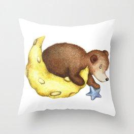 Teddy Bear Stars Throw Pillow