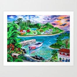 Isla del Encanto - Heart of the Island Art Print