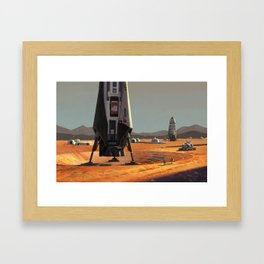 ITS Landers at Alpha Site Framed Art Print