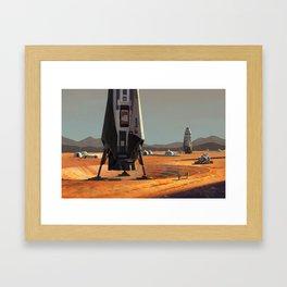 ITS Landers at Alpha Site Framed Art Print