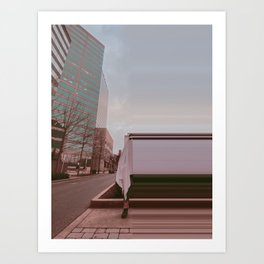 BETWEEN TWO WORLDS Art Print