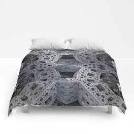 Fractal Art - spaceship drive Comforters