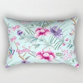 Floral Chinoiserie - Mint Rectangular Pillow