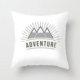 Adventure Outdoor Camper Camping Bivouacking Throw Pillow