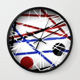 Runaway roads Wall Clock