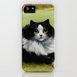 Black & White Kitty - Louis Wain Cats iPhone Case