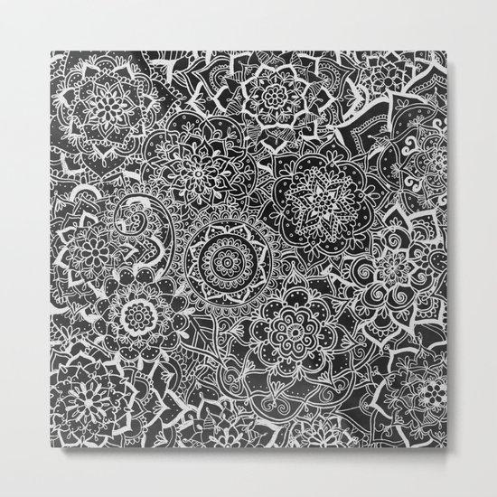 Delicate Lace Mandala Pattern Metal Print