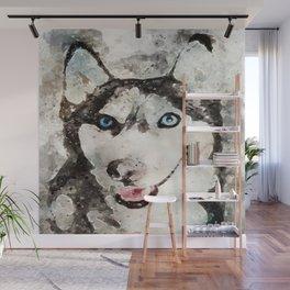 Tika'ani unser sibirischer Husky. Wall Mural