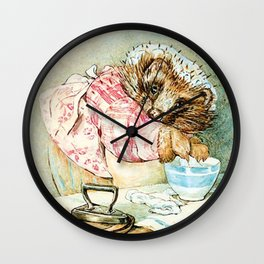 Mrs. Tiggywinkle by Beatrix Potter Wall Clock