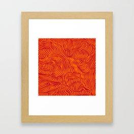 orange red flow Framed Art Print