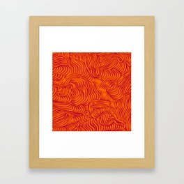 orange red flow Framed Art Print