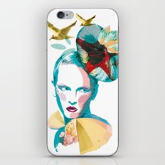 Blue woman, sea and sun iPhone & iPod Skin