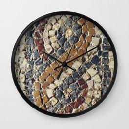 Roman mosaic Wall Clock