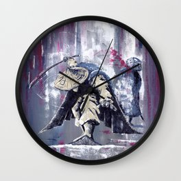 'The Winter Ronin Strikes' Wall Clock