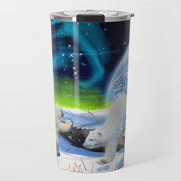 Joyful - Polar Bear Cubs and Planet Earth Travel Mug