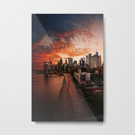 New York Sunset Metal Print