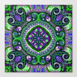 Boho Kaleidoscope Floral Pattern Var. 4 Canvas Print