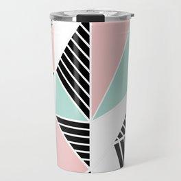 AbLines with Blush Mint Blocks Travel Mug