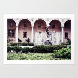 The Courtyard Art Print