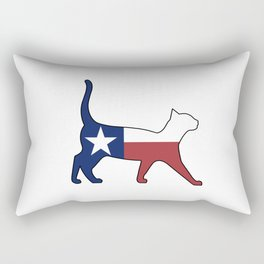 State of Texas Flag for Cat Lovers Rectangular Pillow