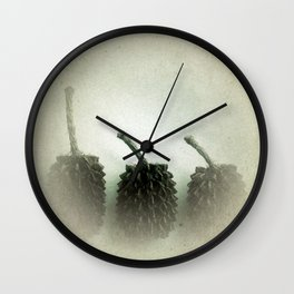 Little Brown Cones Wall Clock