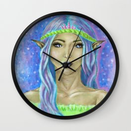 Mermaid inspired Fae Wall Clock