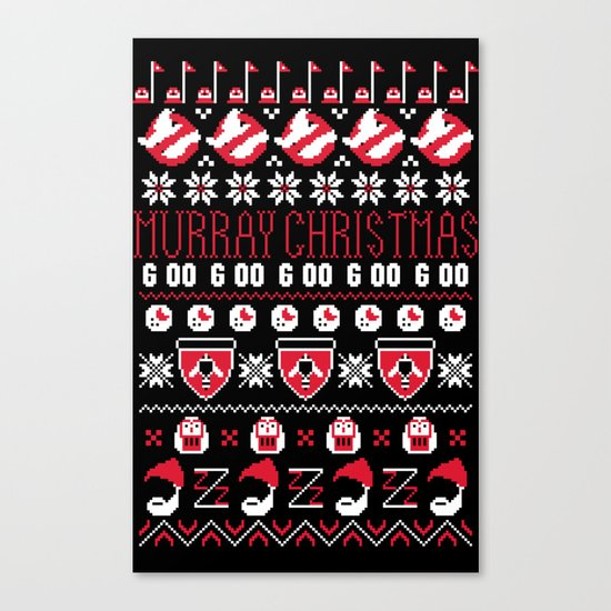 Murray Christmas Sweater Canvas Print