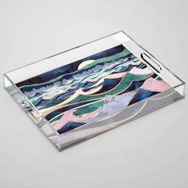 Moonlit Ocean Acrylic Tray