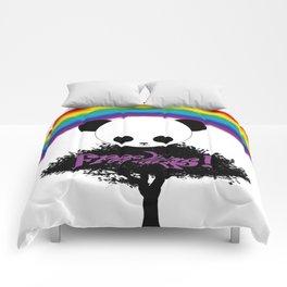 Free hugs panda Comforters