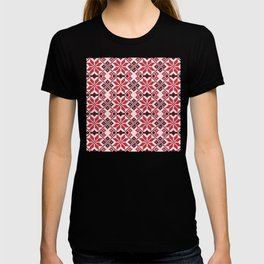 Romanian Traditional Embroidery - Red T-shirt