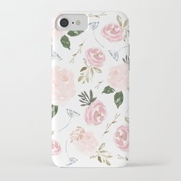 Floral Blossom - Muted Pink iPhone Case