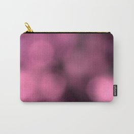 Magenta-Pink Bokeh Dots Carry-All Pouch