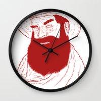 cowboy Wall Clocks featuring Cowboy by David Penela