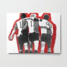 Feyenoord Rotterdam - Hand in hand kameraden Metal Print