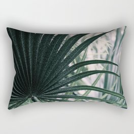 Fan Palms Galore - Tropical Nature Photography Rectangular Pillow
