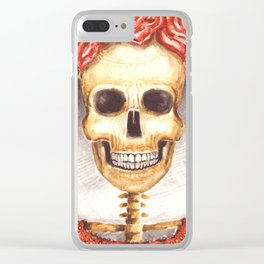 Watercolor Catrina Clear iPhone Case