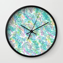 Leaves Water Colors Wall Clock