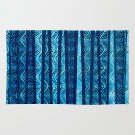 Blue Retro Wave Rug
