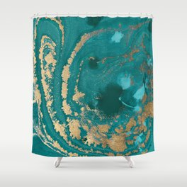 Fluid Gold Shower Curtain