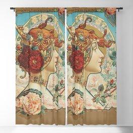 French Art Nouveau Woman Blackout Curtain