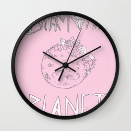 Diamond Planet Wall Clock