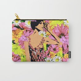 LUNA SPRING TIME BEAUTY WOMAN FLOWER CHILD Carry-All Pouch