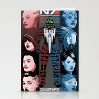 n7 Stationery Cards featuring N7: The Female Squad by Alex Rodway Illustration